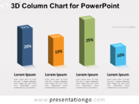 Free 3D Column Chart for PowerPoint