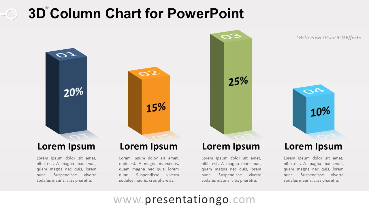 Free 3D Column PowerPoint Chart