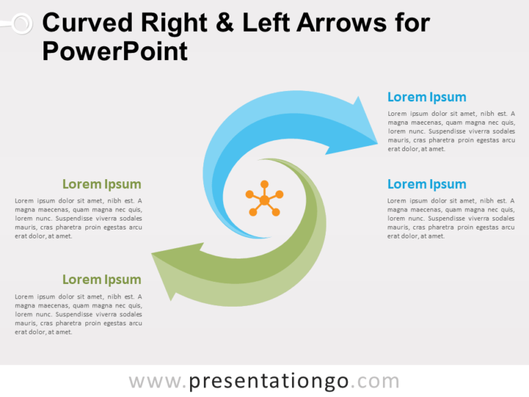 Free Curved Right and Left Arrows for PowerPoint