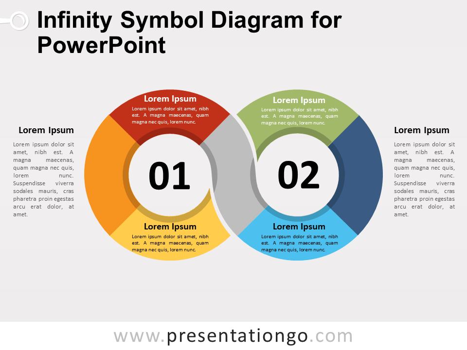 Free Infinity Symbol Diagram for PowerPoint