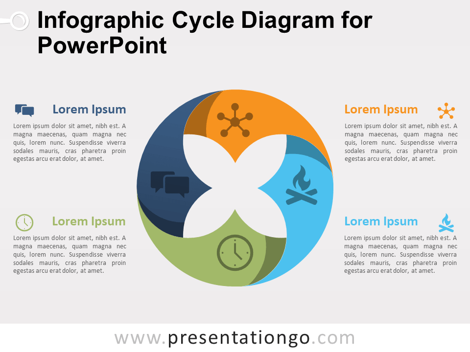 Infographic cycle diagram for powerpoint presentationgo view larger image free infographic cycle diagram for powerpoint ccuart Images