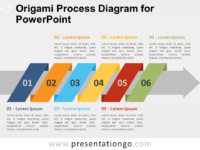 Free Origami Process Diagram for PowerPoint