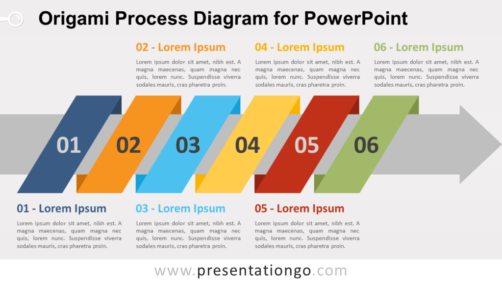 Free Origami Process PowerPoint Diagram