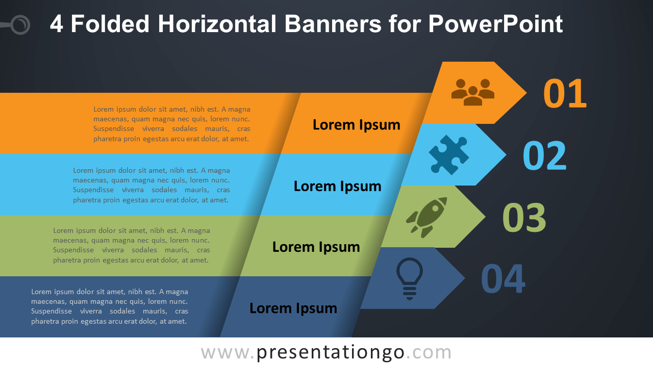 Free 4 Horizontal Banners for PowerPoint