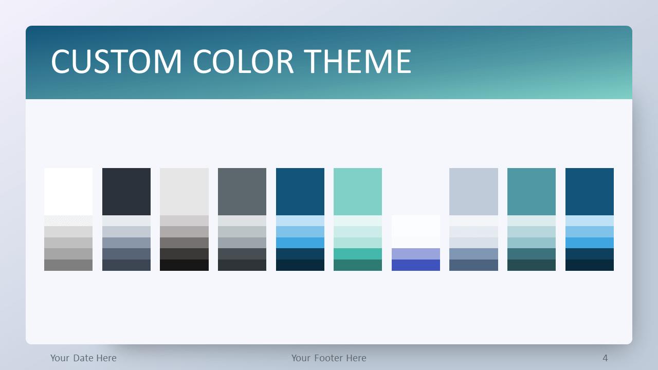 Free Aqua Splash Gradient PowerPoint Template - Custom Color Theme