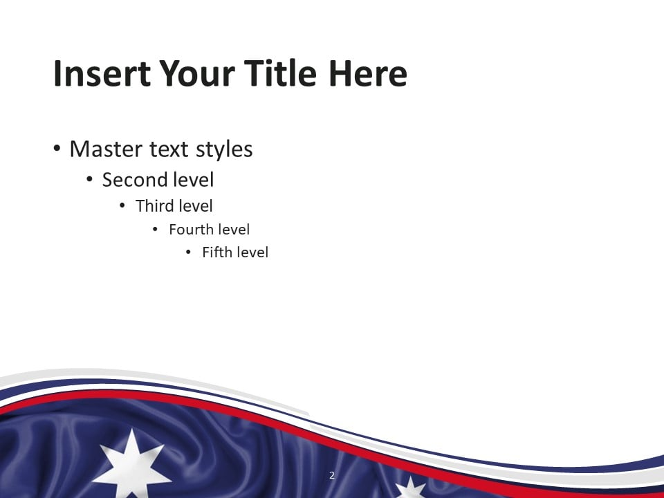 Free Flag Australia PowerPoint Template - Slide 2