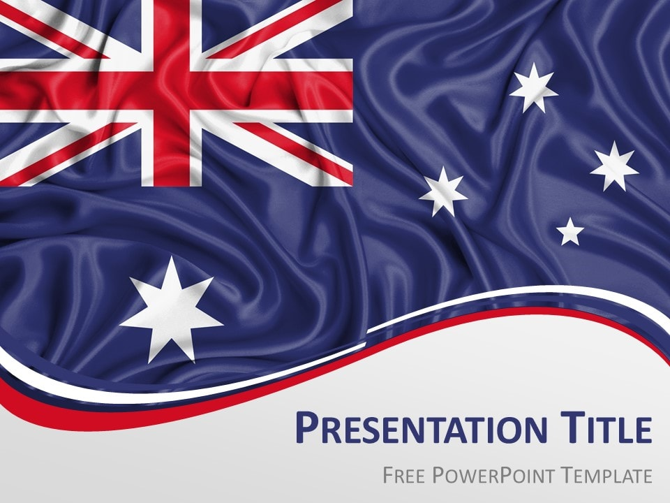 australia flag powerpoint template