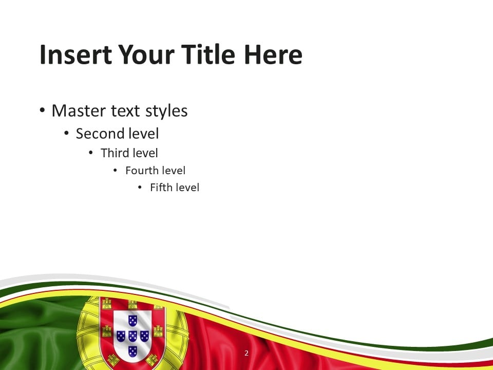 Free Flag Portugal PowerPoint Template - Slide 2