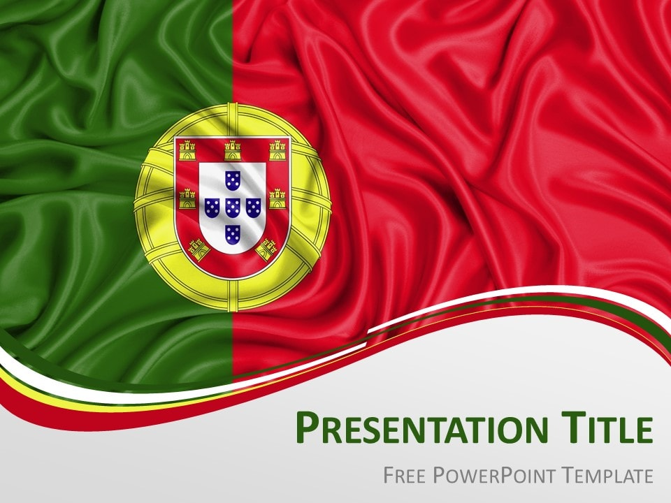 Free Flag Portugal PowerPoint Template
