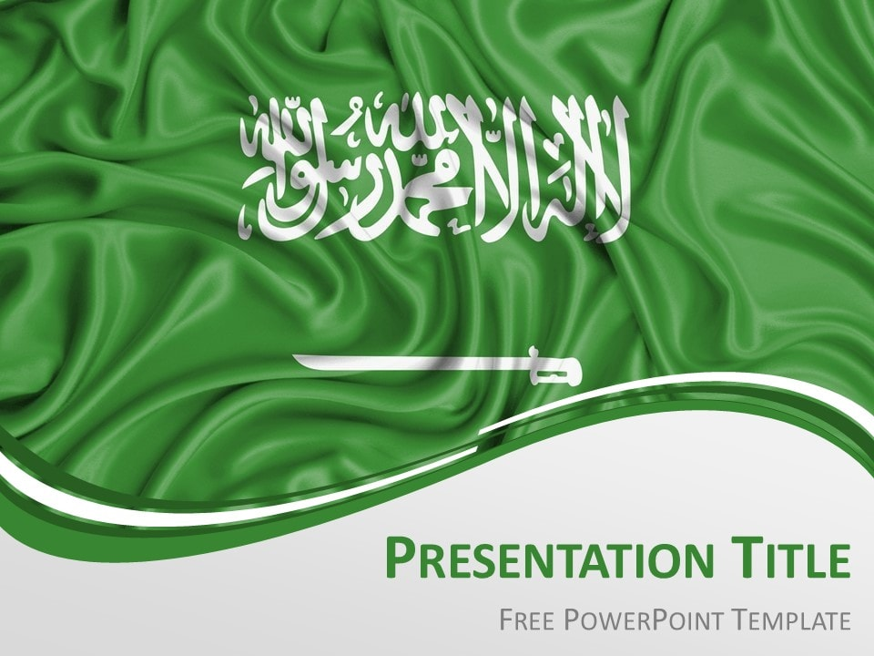 Free Flag Saudi Arabia PowerPoint Template