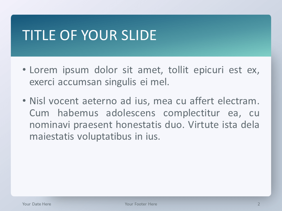 Free Gradient Aqua Splash PowerPoint Template - Title and Content