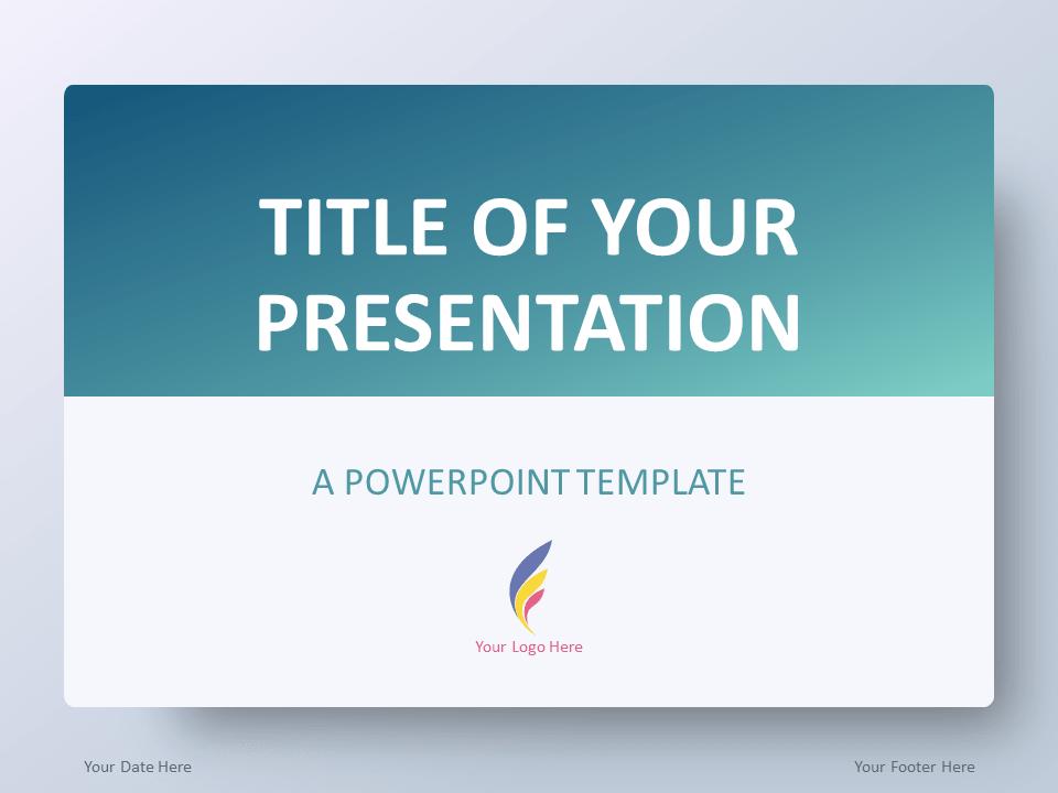 Free Gradient Aqua Splash PowerPoint Template