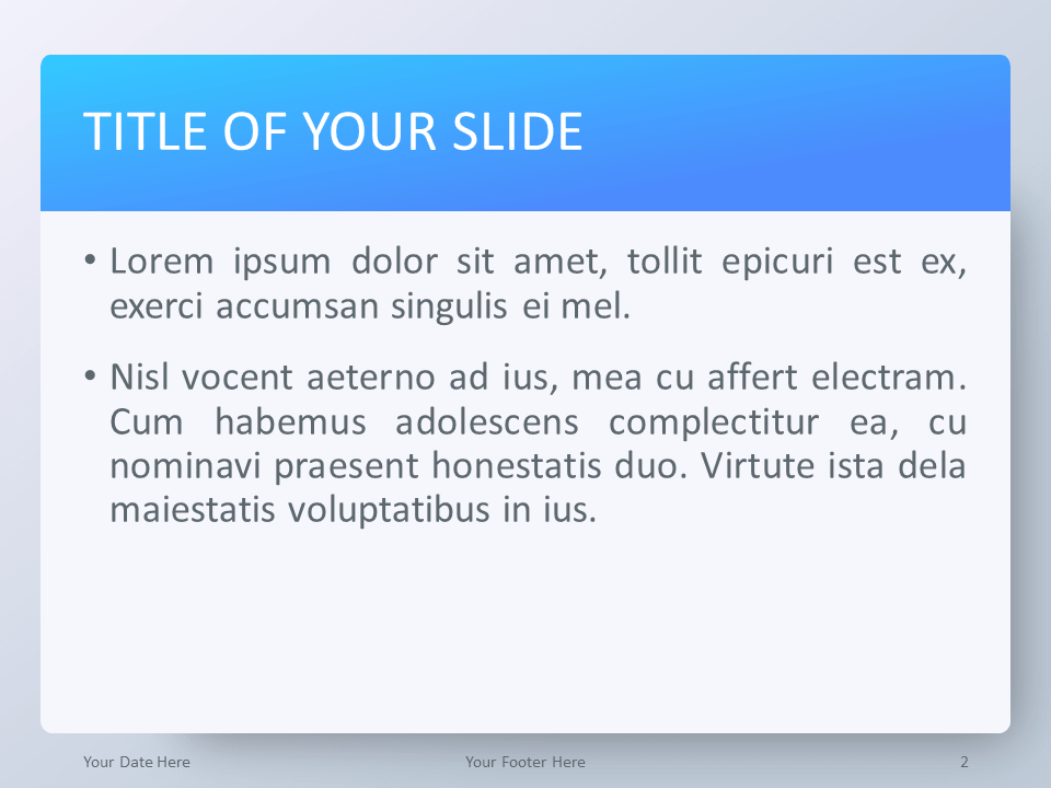Gradient Blue PowerPoint Template - Title and Content