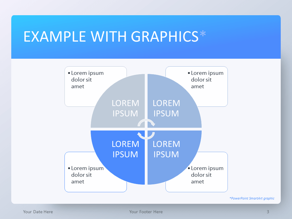 Gradient Blue PowerPoint Template - SmartArt