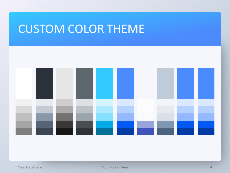 Gradient Blue PowerPoint Template - Color Theme