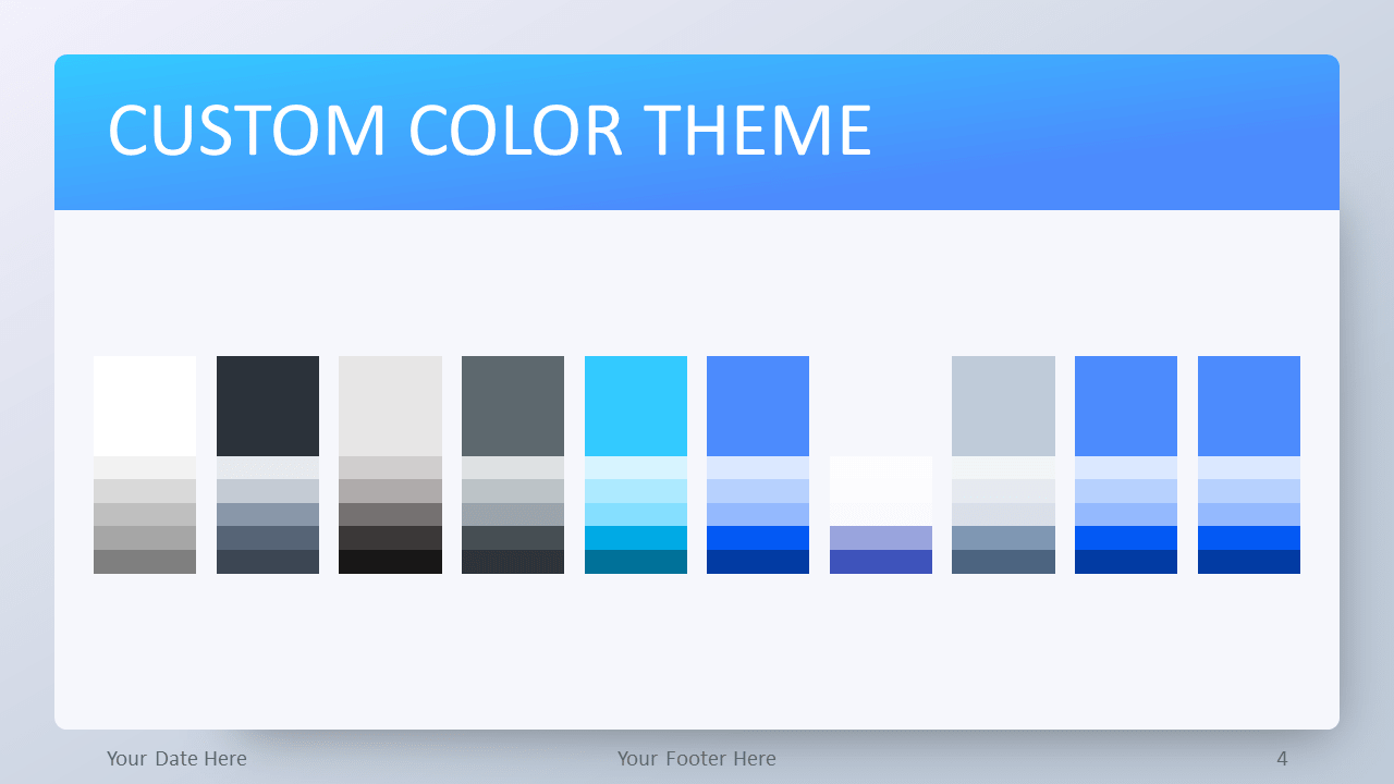 Gradient Blue Template for PowerPoint - Color Theme