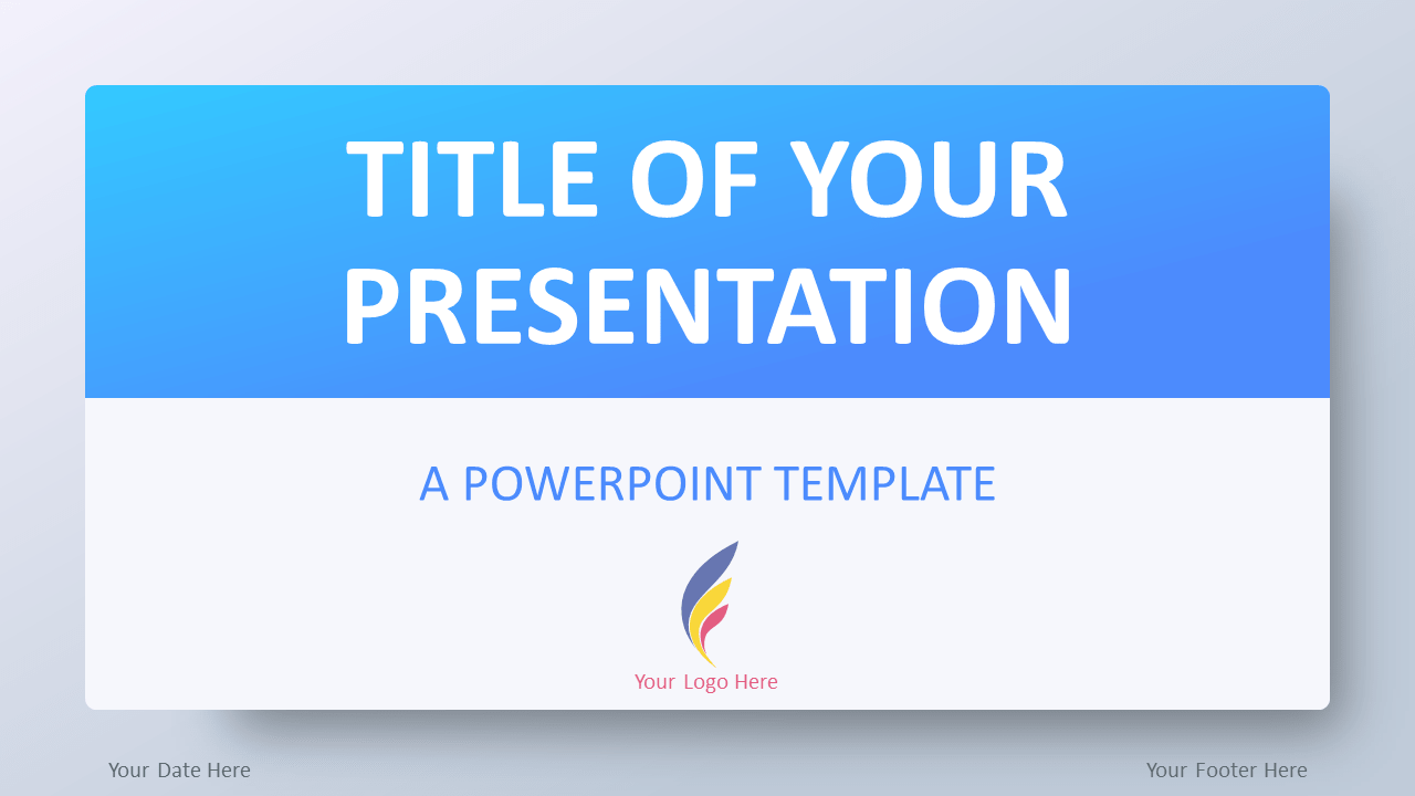 Free Gradient Blue Template for PowerPoint