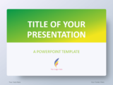 Free Gradient Green PowerPoint Template