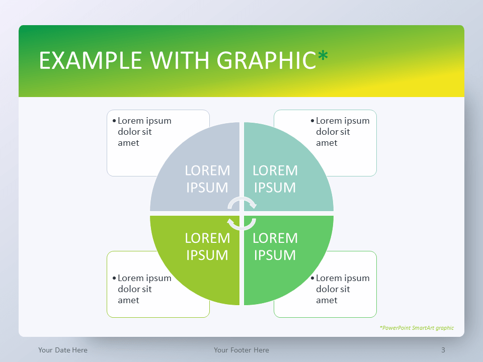 Gradient Green PowerPoint Template - SmartArt Graphic