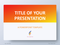 Free Gradient Orange PowerPoint Template
