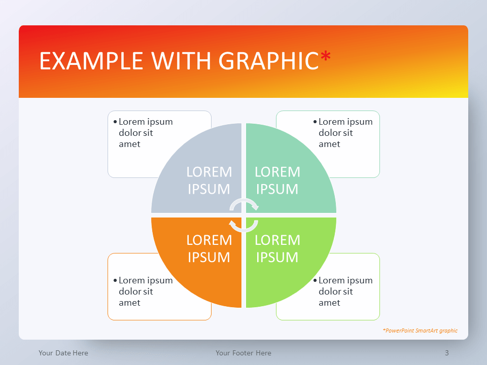 Free Gradient Orange PowerPoint Template - SmartArt Graphic