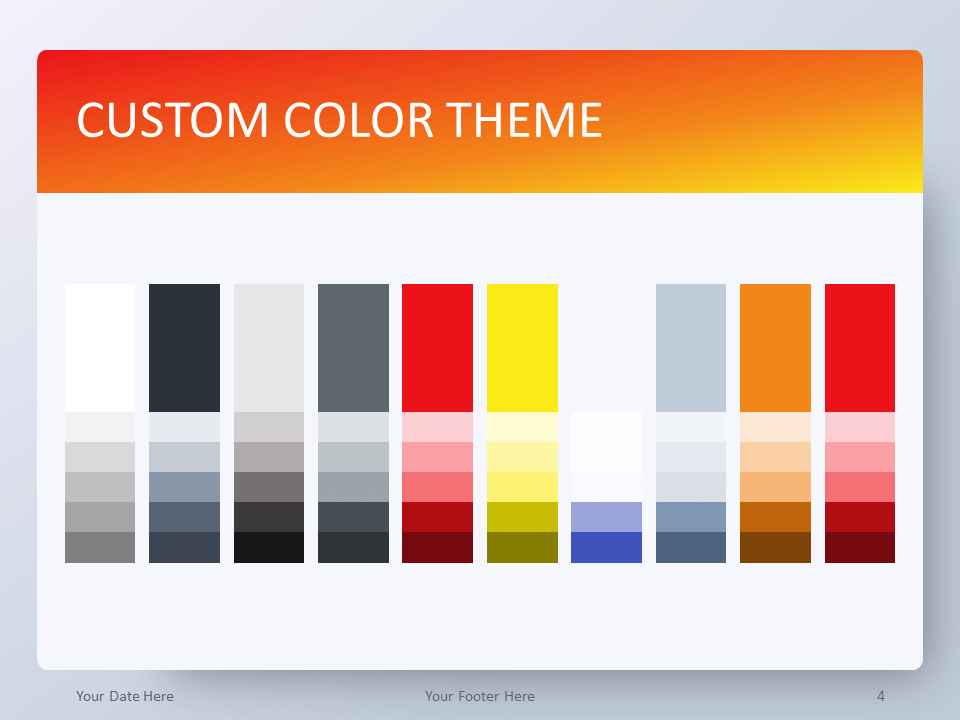 Free Gradient Orange PowerPoint Template - Custom Color Theme