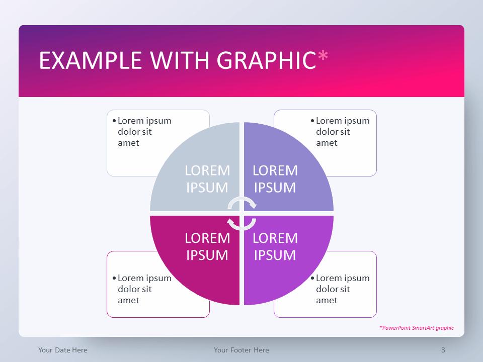 Free Gradient Pink PowerPoint Template - SmartArt Graphic