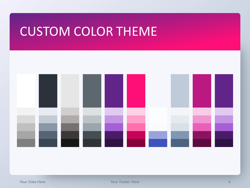 Free Gradient Pink PowerPoint Template - Custom Color Theme