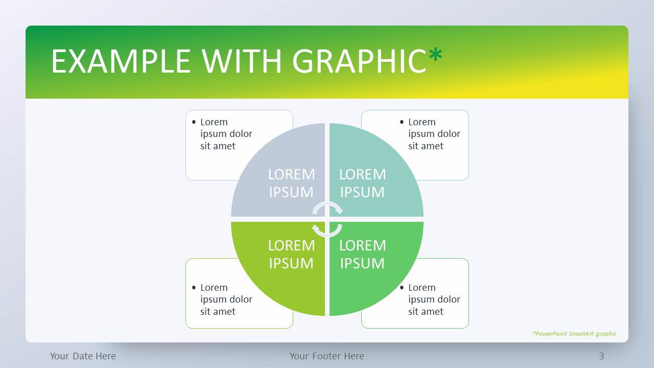 Free Green Gradient PowerPoint Template - SmartArt Graphic