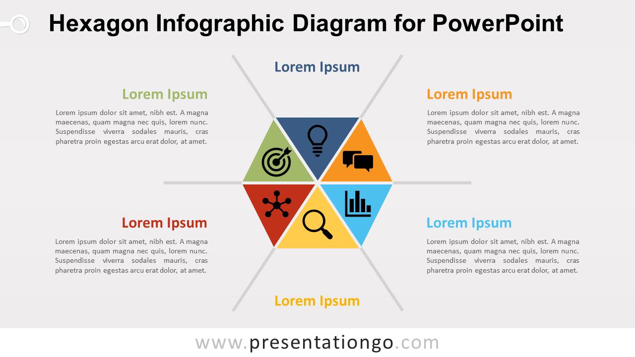 Free Hexagon Infographic PowerPoint Diagram