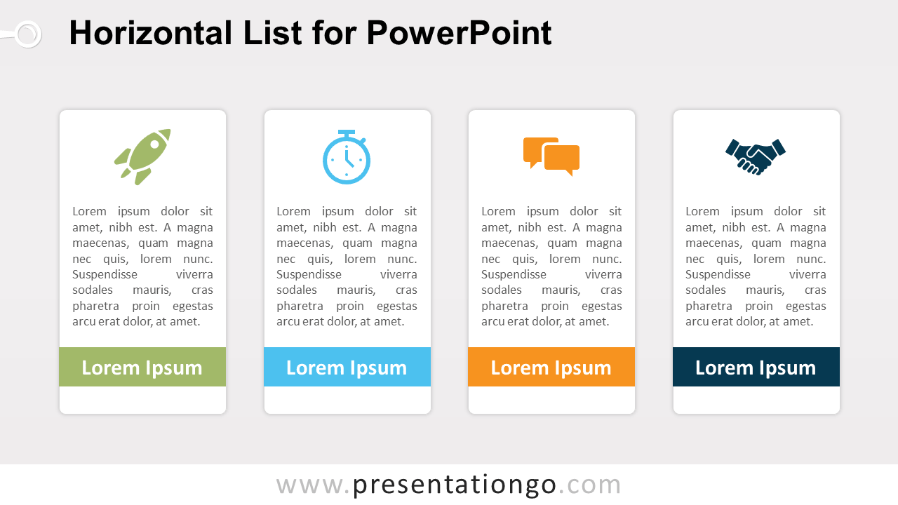 Free Horizontal List PowerPoint Template