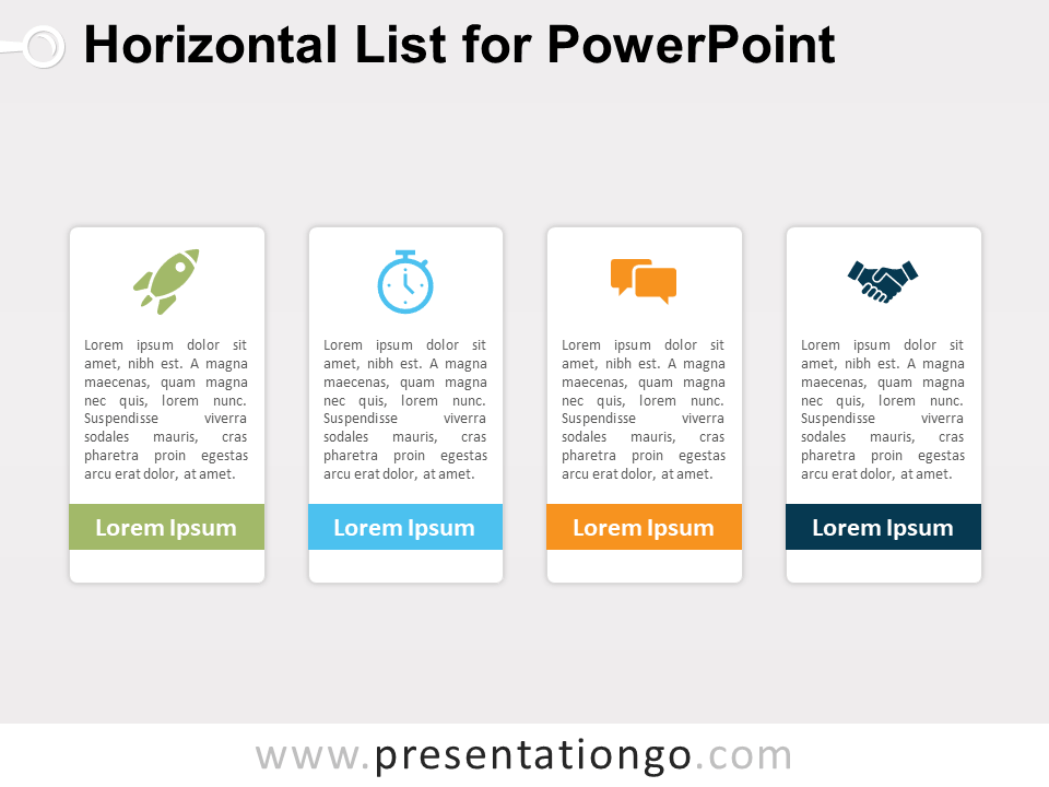 Free Horizontal List for PowerPoint