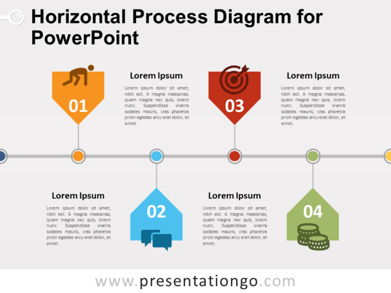 Free Horizontal Process Diagram for PowerPoint