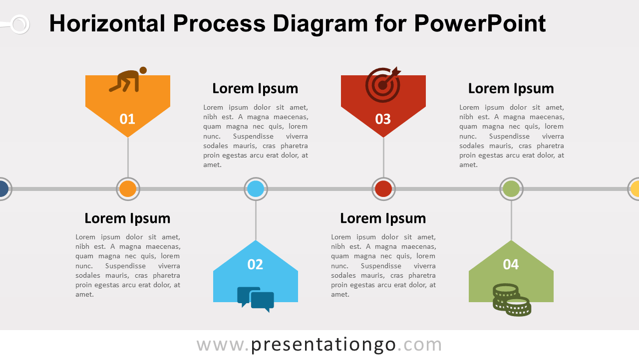 Free Horizontal Process PowerPoint Diagram