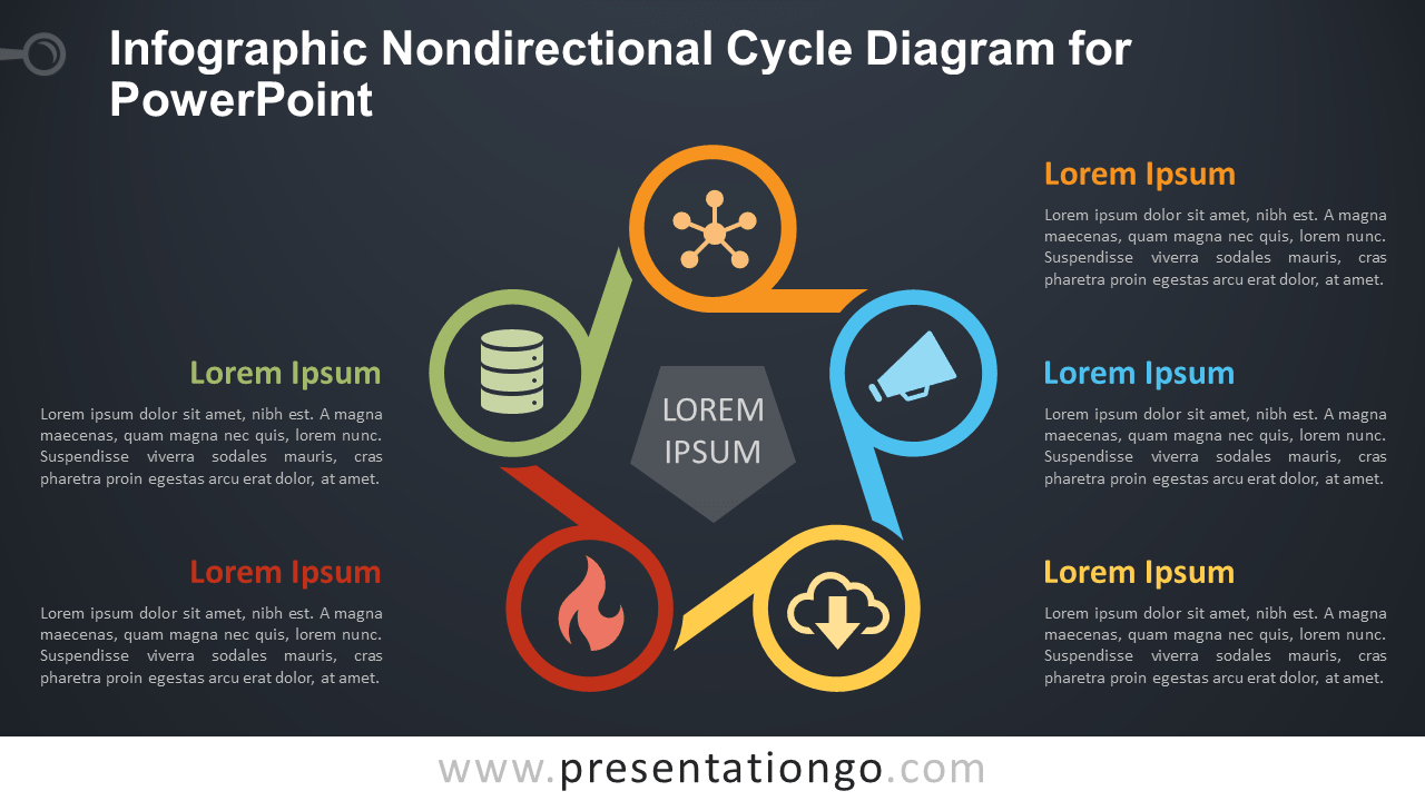 Free Infographic Nondirectional Cycle - PowerPoint Template