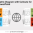 Free Matrix Diagram with Callouts for PowerPoint