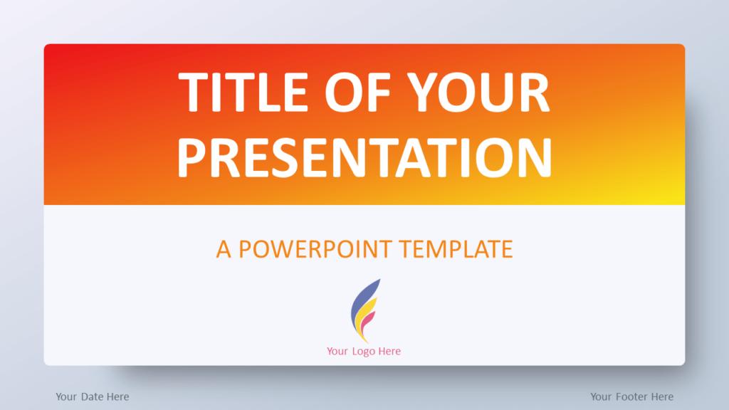 Free Orange Gradient PowerPoint Template