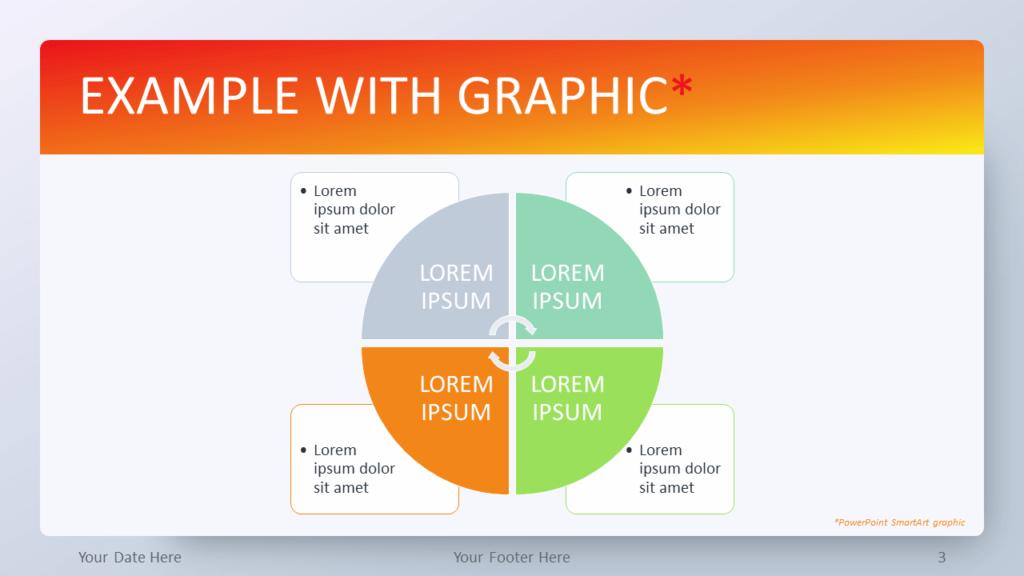Free Orange Gradient PowerPoint Template - SmartArt Graphic
