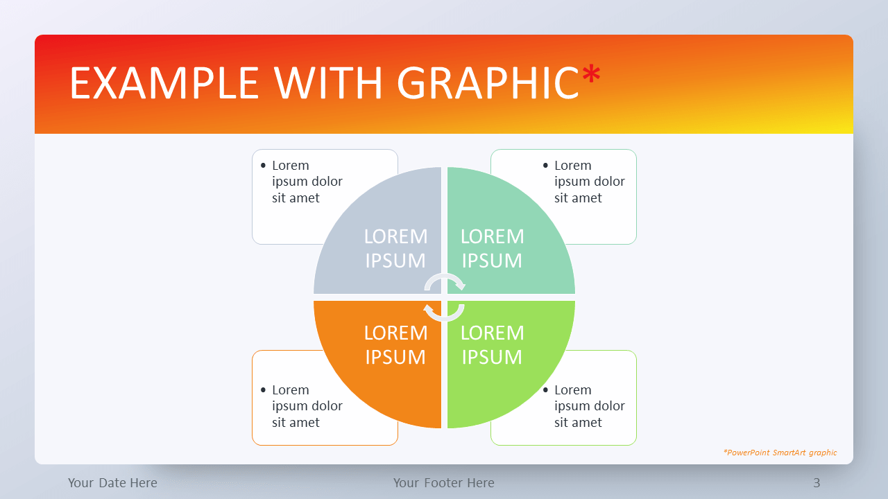 Free Orange Gradient PowerPoint Template - SmartArt Graphic