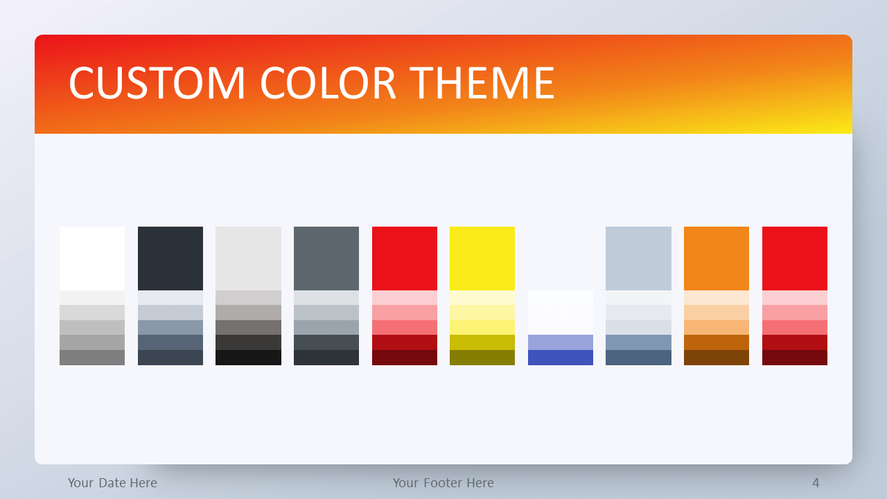 Free Orange Gradient PowerPoint Template - Custom Color Theme