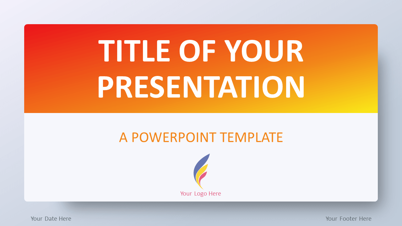 Free Orange Gradient PowerPoint Template
