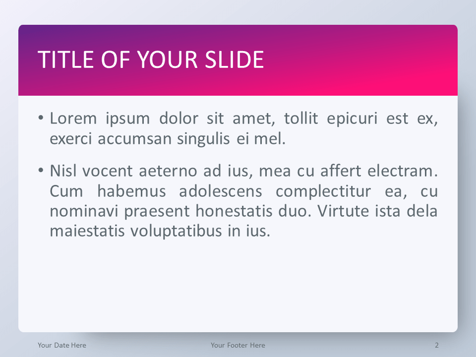 Free Pink Gradient PowerPoint Template - Title and Content