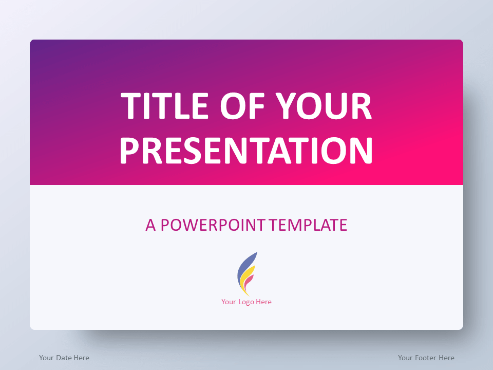 Free Pink Gradient PowerPoint Template