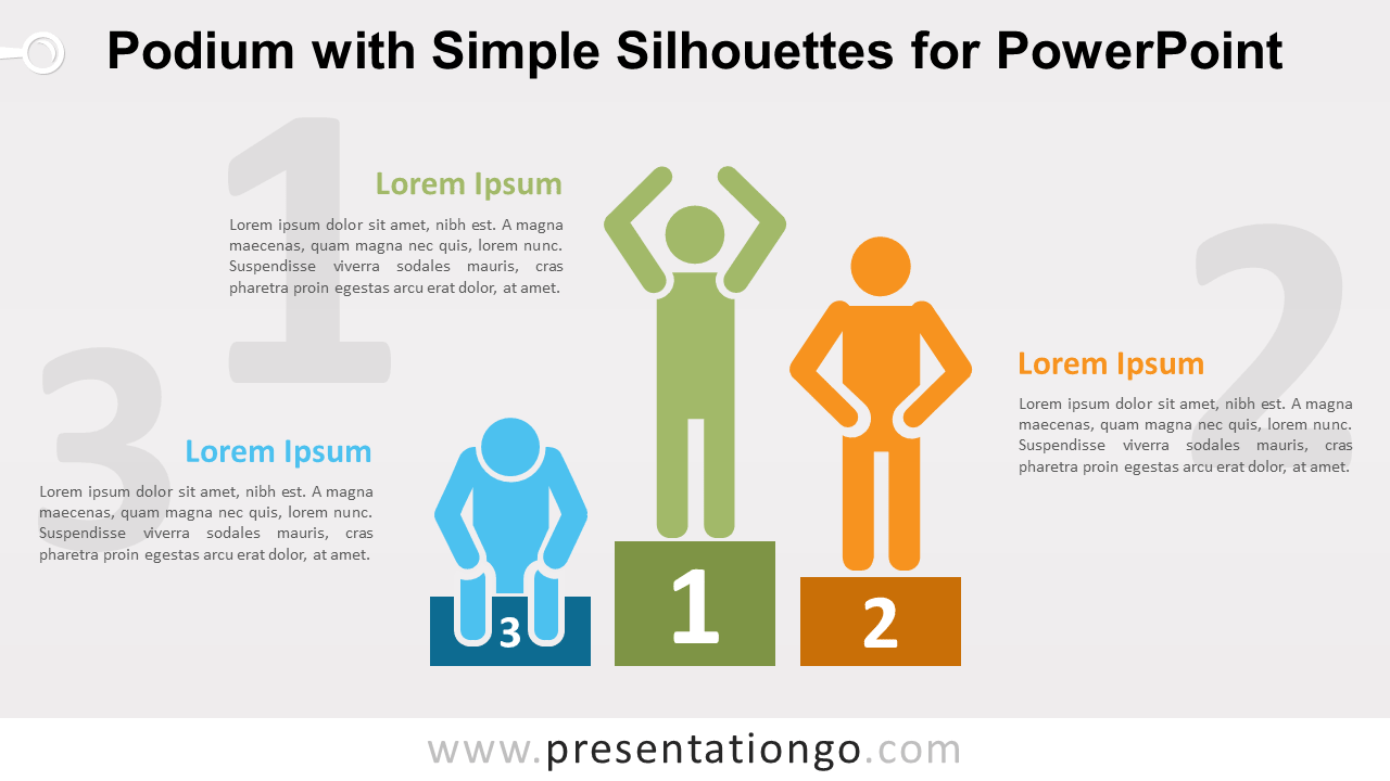 Free Podium and Silhouettes PowerPoint Template