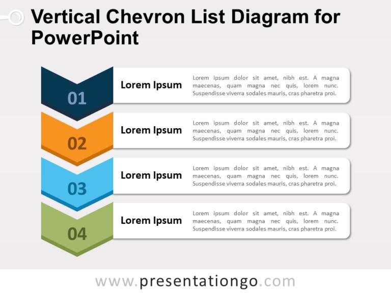 Free Vertical Chevron List Diagram for PowerPoint