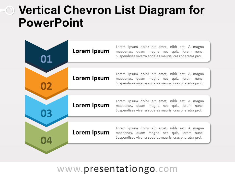Free Vertical Chevron List Diagram for PowerPoint