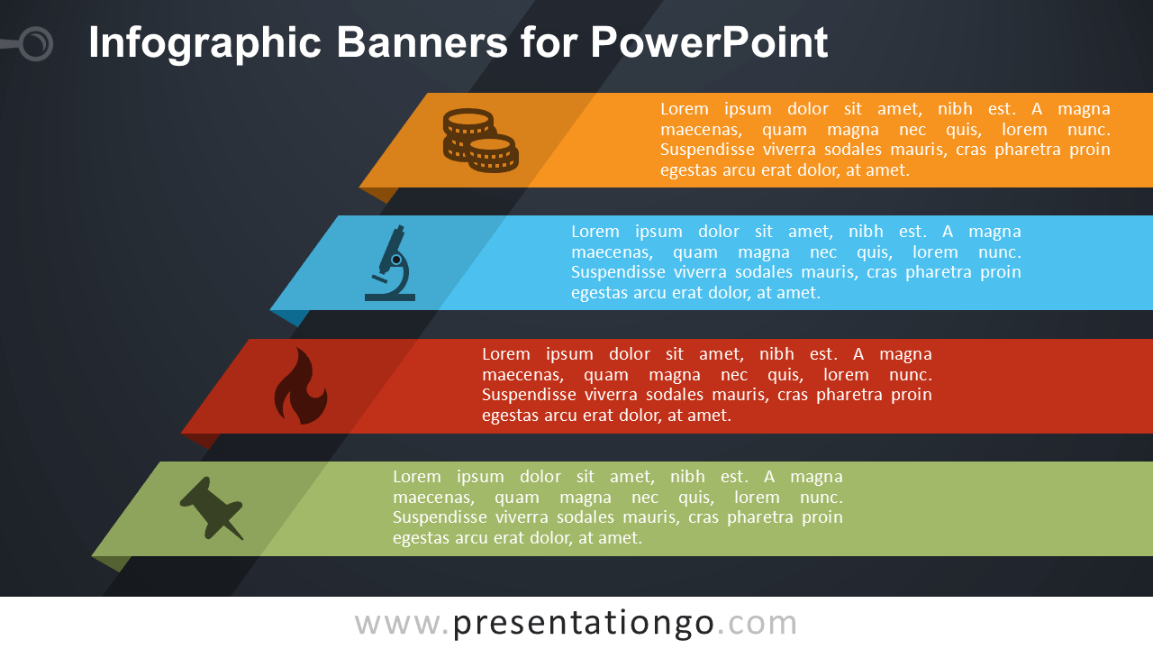 Free Banners with Text PowerPoint Diagram