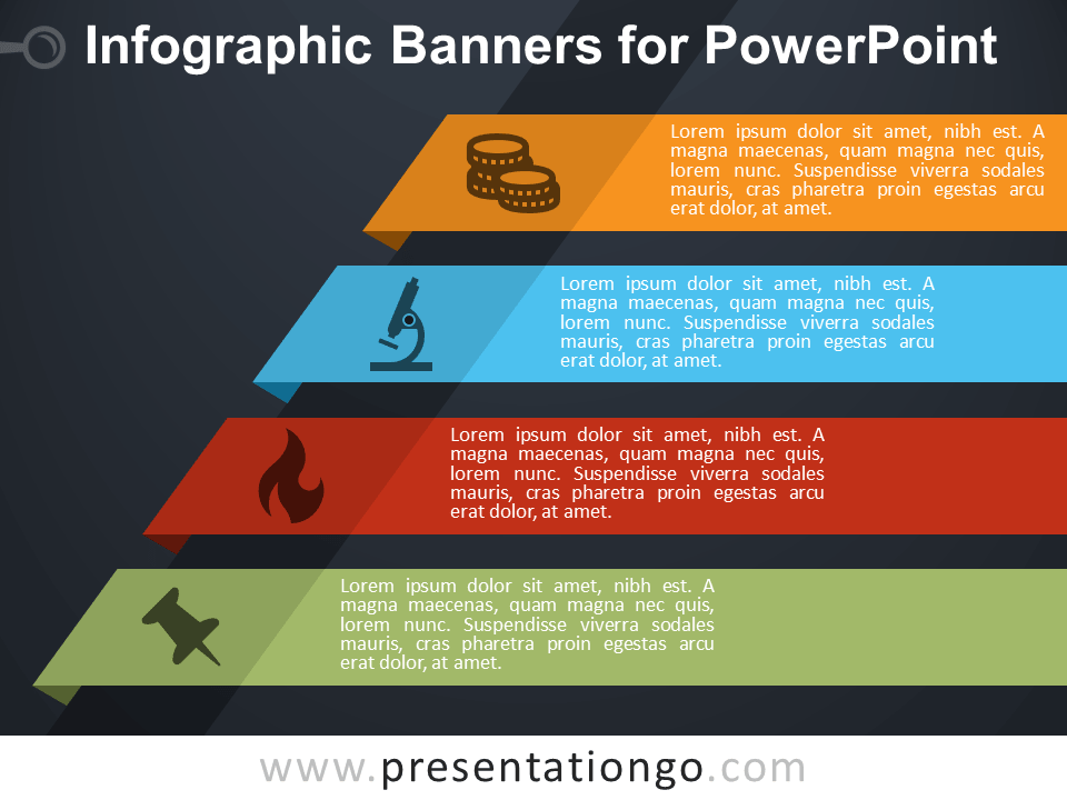 Free Infographic Banners for PowerPoint Template