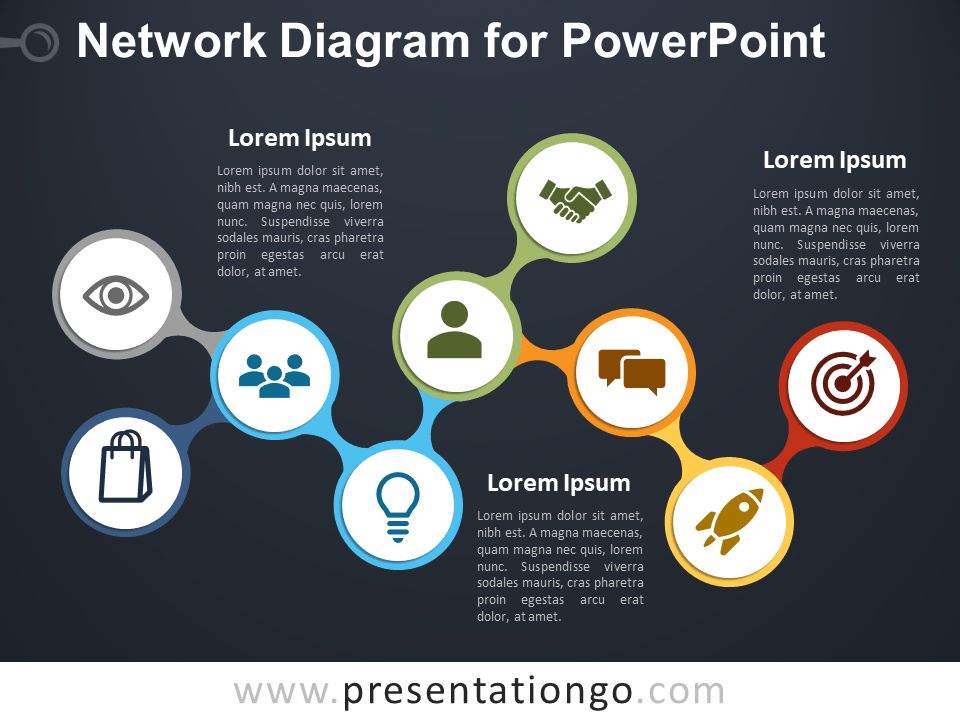Free Network Diagram for PowerPoint Template
