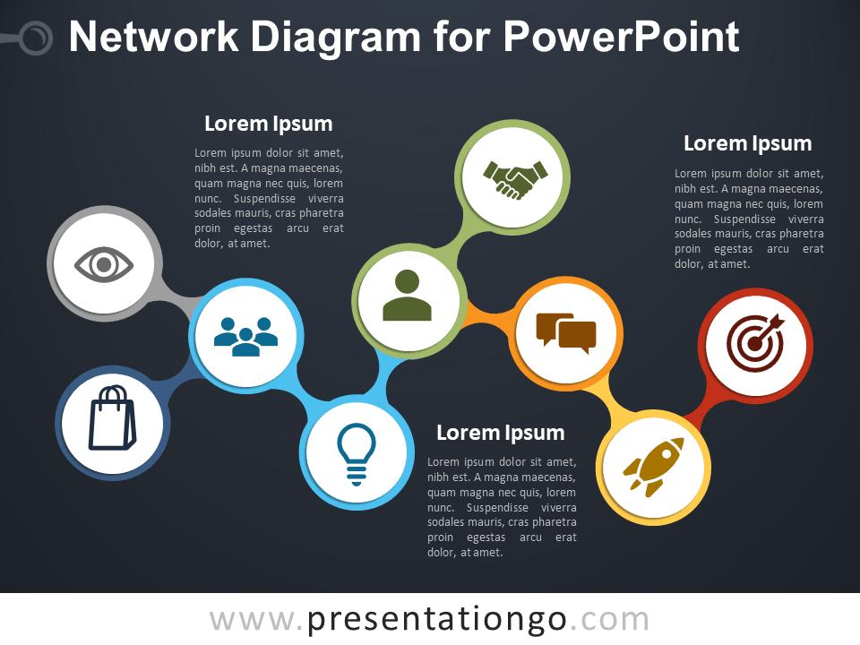 Network Diagram For Powerpoint Presentationgo